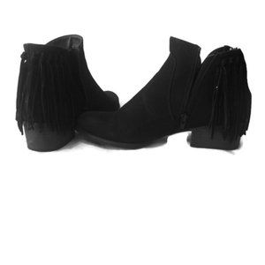 🍄Cathy Jean Fringe Ankle Boots